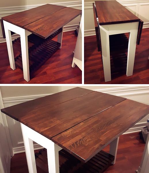 Ana White | Drop Leaf Kitchen Island   DIY Projects