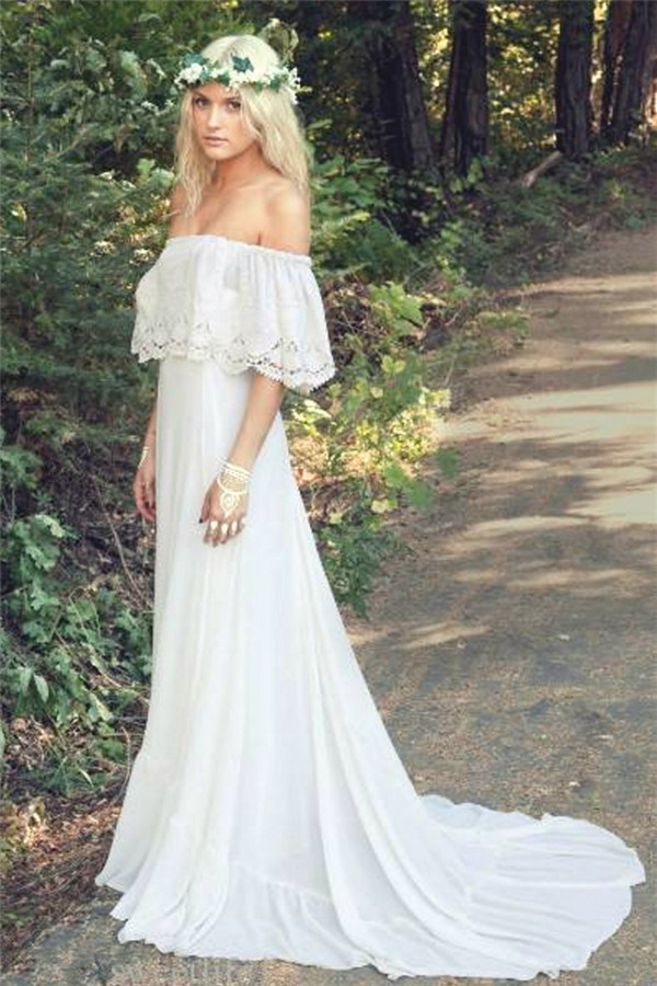 Off The Shoulder 2020 Bohemian Wedding Dresses Lace Summer Beach Wedding Gown Bo688 Bohemian Wedding Dress Lace Summer Wedding Dress Beach Summer Wedding Dress,Wedding Dressing Table