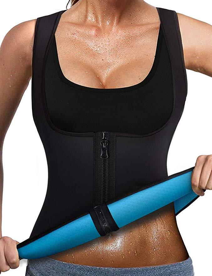 LANDENG 2020 Nuevas Camisetas de Sauna para Mujer Workout Neoprene Tank Top Chaquetas de Entrenamiento para Bajar de Peso Body Shaper Ropa Sweat Sauna Suit Ejercicio de Manga Corta