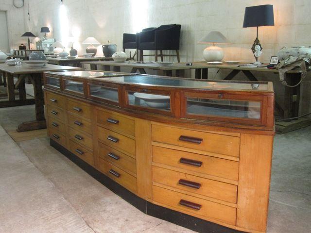 Grote retro vintage antieke toonbank bij bordighera te for Grote spiegels te koop