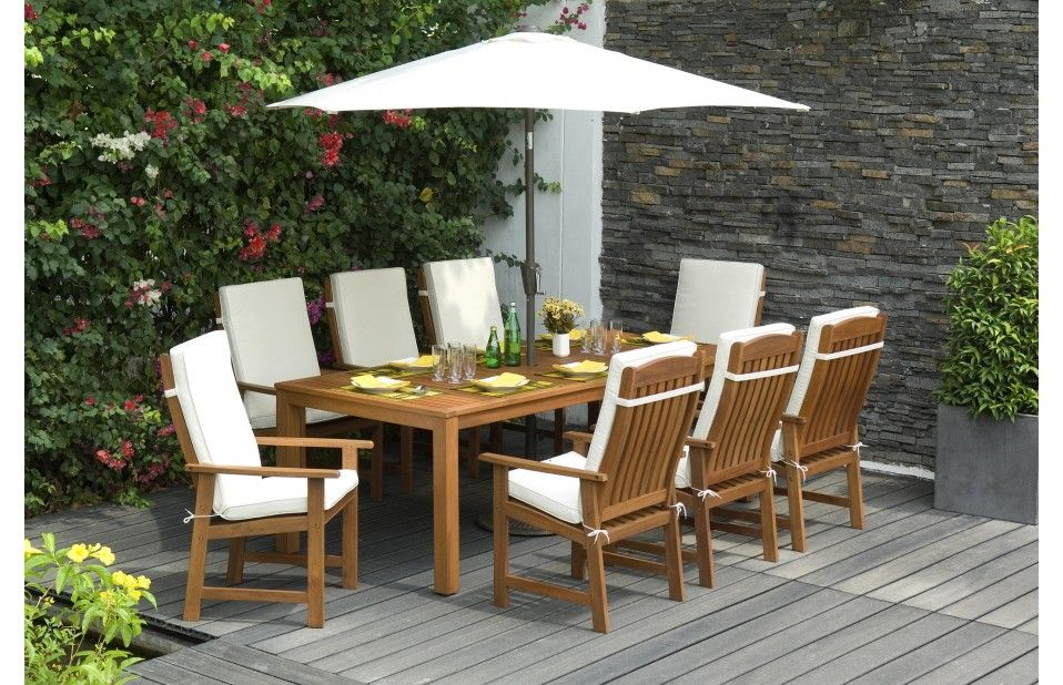Parsons Wooden Garden Dining Set With Cushions Garden Furniture Uk Teak Garden Furniture Garden Dining Set