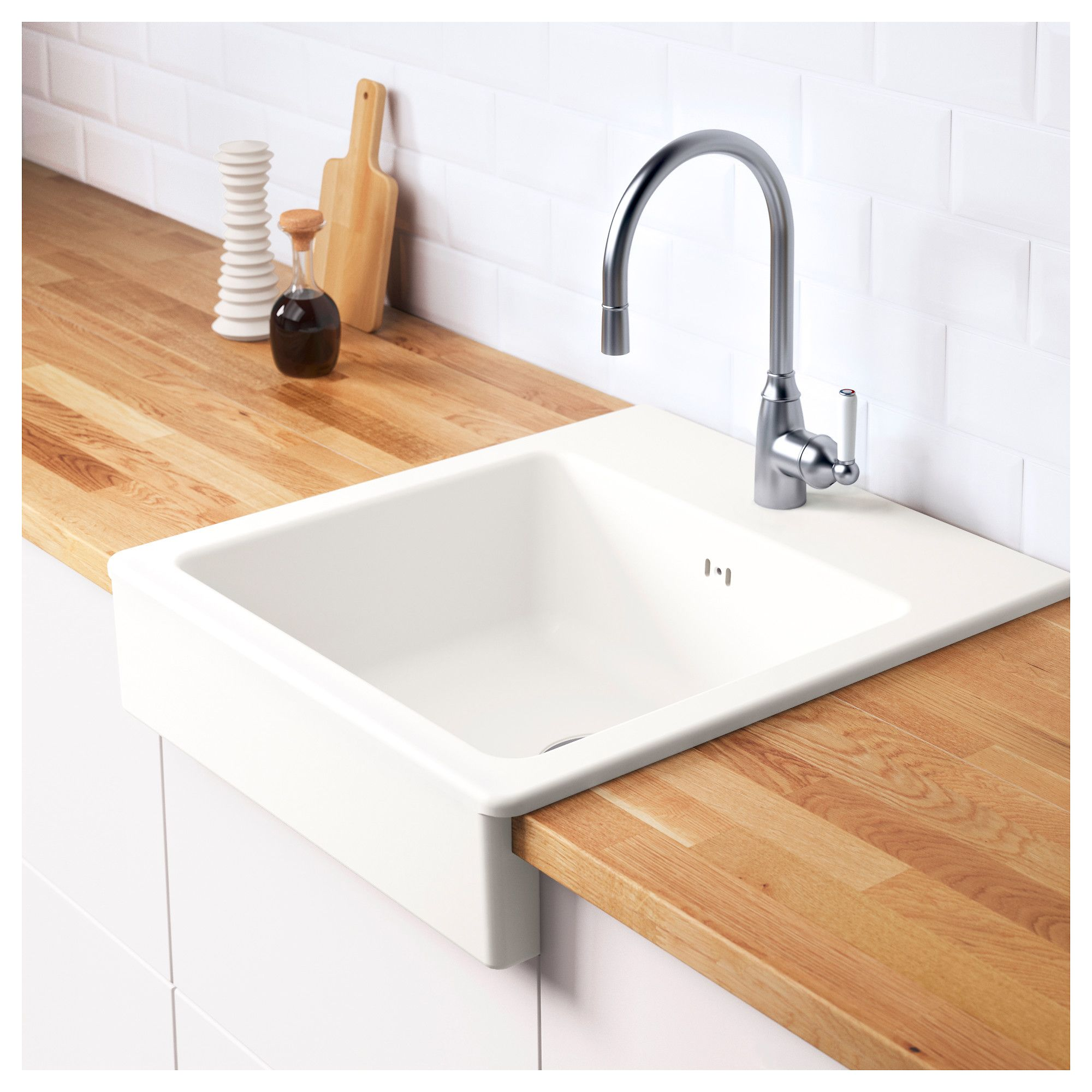 Ikea domsjö onset sink 1 bowl white 62x66 cm 25 year guarantee read about the terms in the guarantee brochure