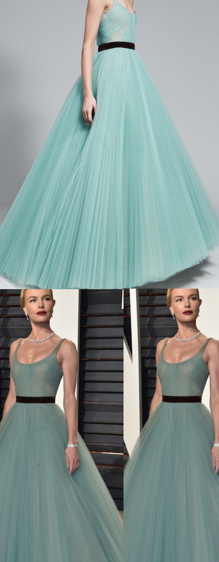 Ruffles light blue evening prom dresses enticing long straps