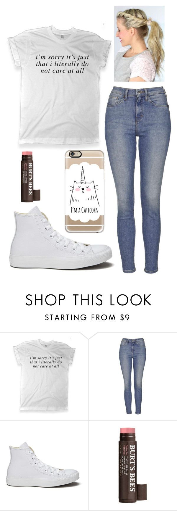 """""""Monday Outfit """" by dreamsofwonderlandx ❤ liked on Polyvore featuring Topshop, Converse, Burt's Bees, Casetify, women's clothing, women's fashion, women, female, woman and misses"""