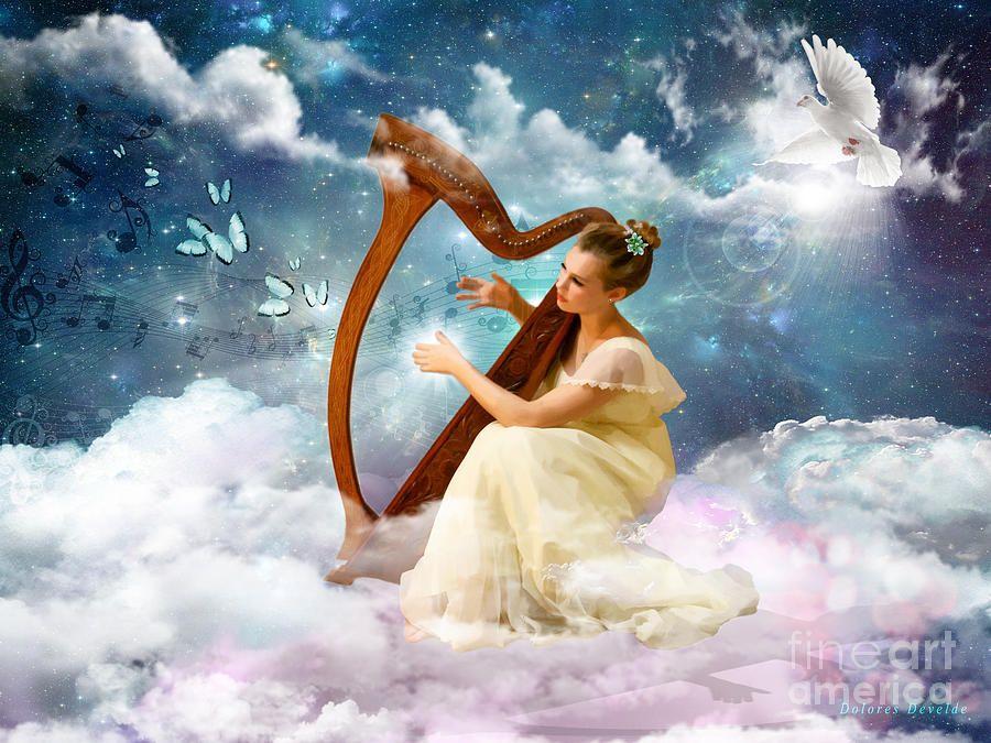 Strings of My Heart by Dolores Develde   Prophetic art, Spiritual paintings, Prophetic art heavens