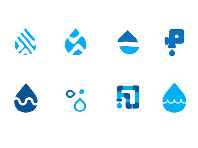 Water Pipes Plumbing Logo Plumbers Logo Plumbing Logo Design