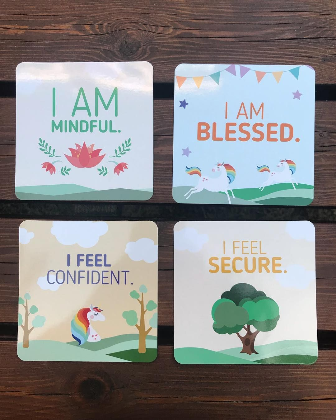 Positive Affirmation Cards For Children By Monkinya