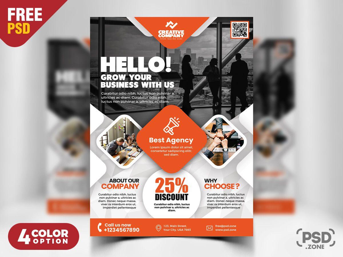 Creative Business Flyer Designs Psd Free Psd Flyer Templates Psd Flyer Templates Flyer Design Templates Flyer template psd free download
