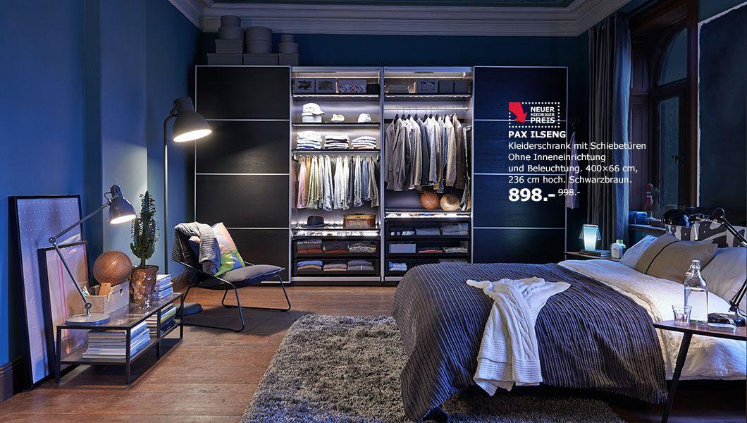 Inspiration fürs Schlafzimmer, hier mit PAX ILSENG Kleiderschrank ...