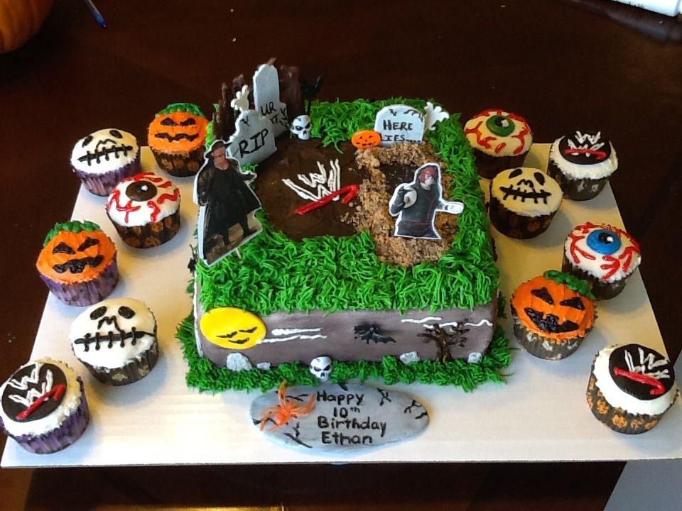 Wwehalloween Birthday Cake Kane Rising From The Grave Undertaker