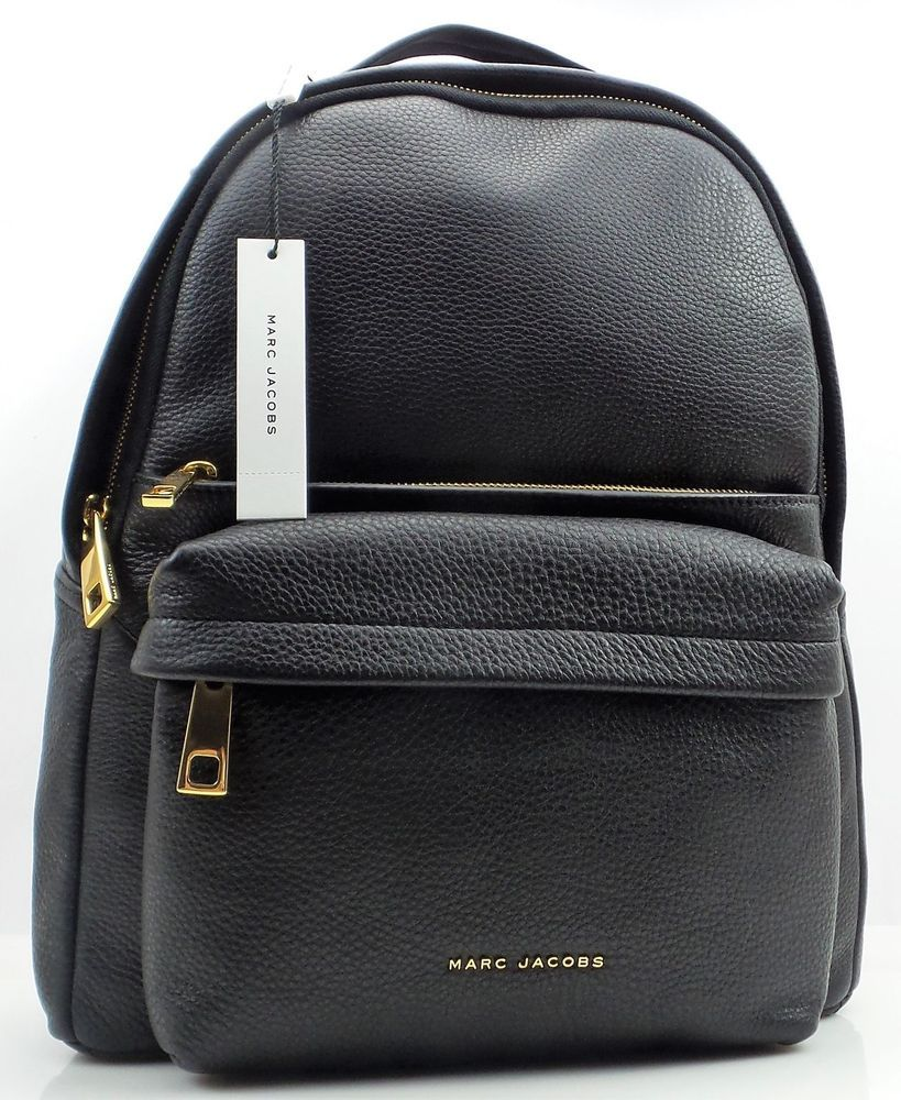 4cc25ee8682a NWT $550 Marc Jacobs Varsity Pack Large Black Leather Backpack M0013562-001  #purses #fashion