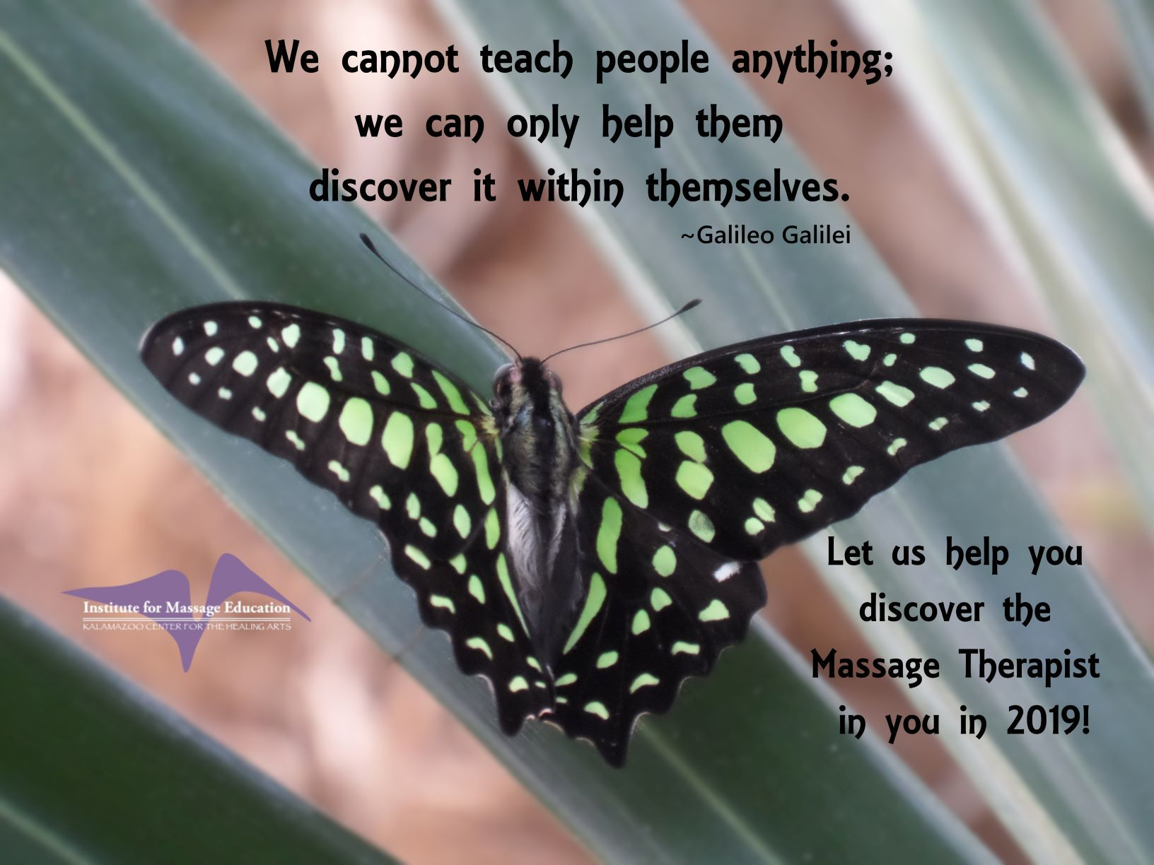 We cannot teach people anything; we can only help them