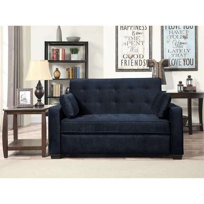 Westport Fabric Sleeper Loveseat Navy Blue Guest Room