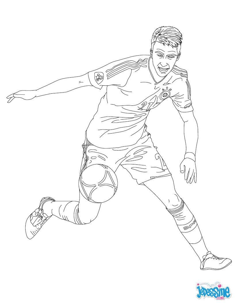 Coloriage du joueur de foot Marco Reus € imprimer gratuitement ou colorier en ligne sur