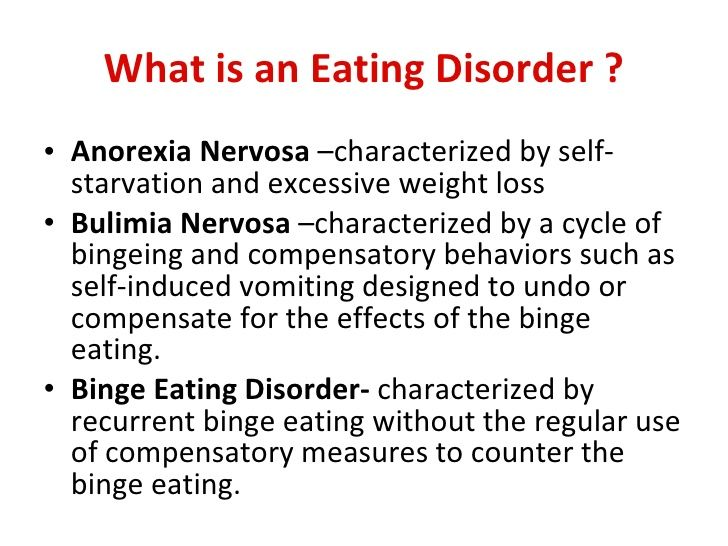 a description of the bulimia nervosa eating disorder What is bulimia bulimia nervosa is a psychological and severe life-threatening  eating disorder described by the ingestion of an abnormally.