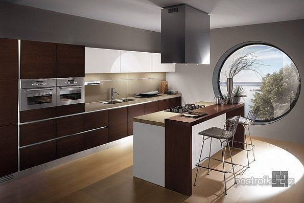 Идеи для кухни: дизайн с барной стойкой | Кухня, Дизайн ...