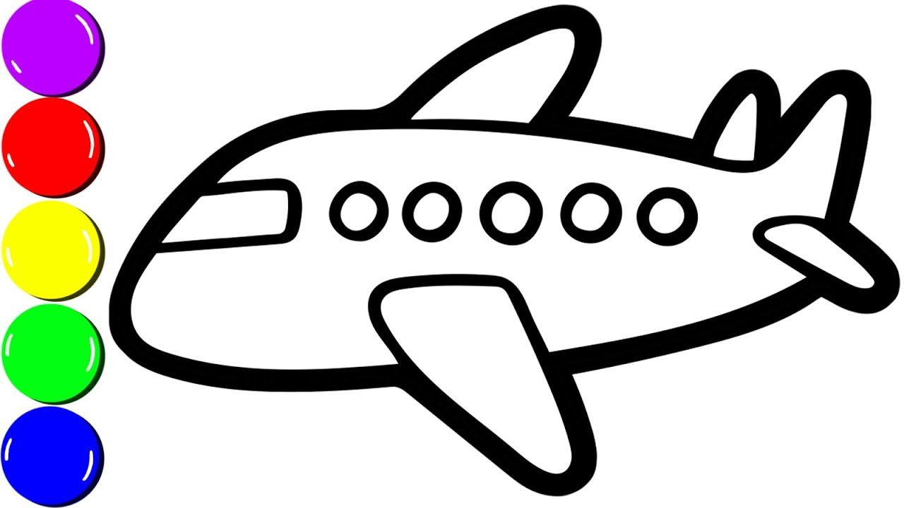 airplane coloring page for toddlers