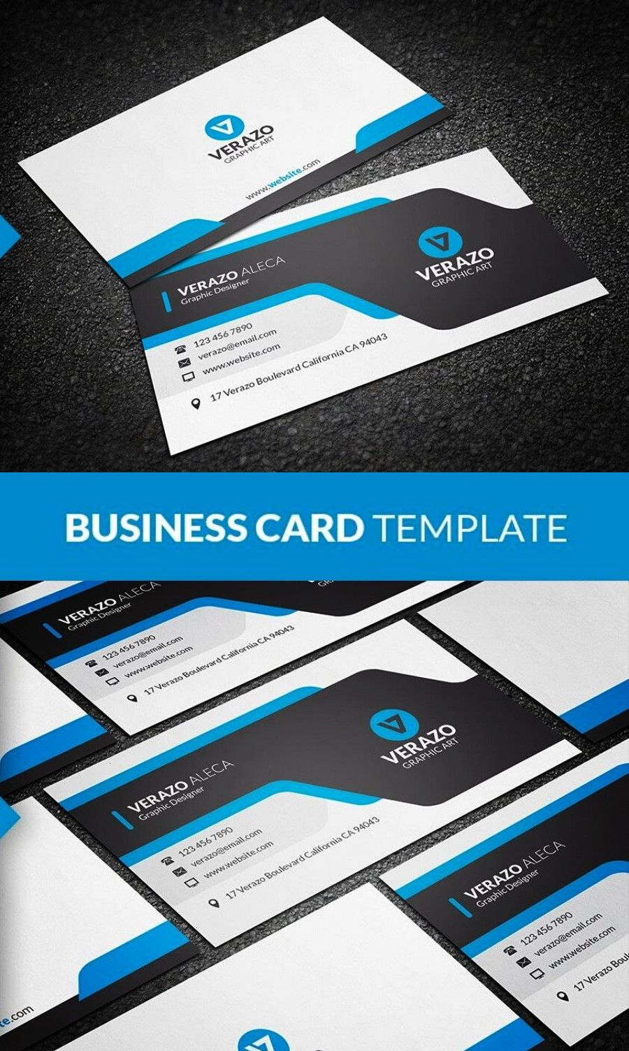 and Modern Business Card A creative and modern business card template that is designed for both corporate professional and individual freelancer Its absolutely clean and...