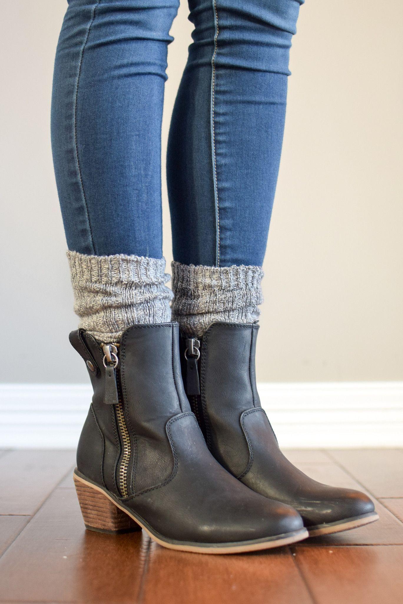 Harvest Grey Peppered Boot Sock