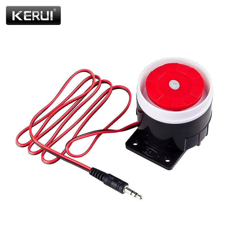 Kerui Mini Wired Siren Horn For Wireless Home Alarm Security System 120 Db Loudly Siren Wireless Home Security Systems Home Security Home Security Systems