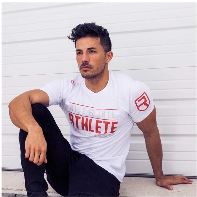 New Arrival Bodybuilding and Fitness Mens Short Sleeve Tshirt Gyms Shirt Men Muscle Tights Gasp Fitness TShirts  New Arrival Bodybuilding and Fitness Mens Short Sleeve Ts...