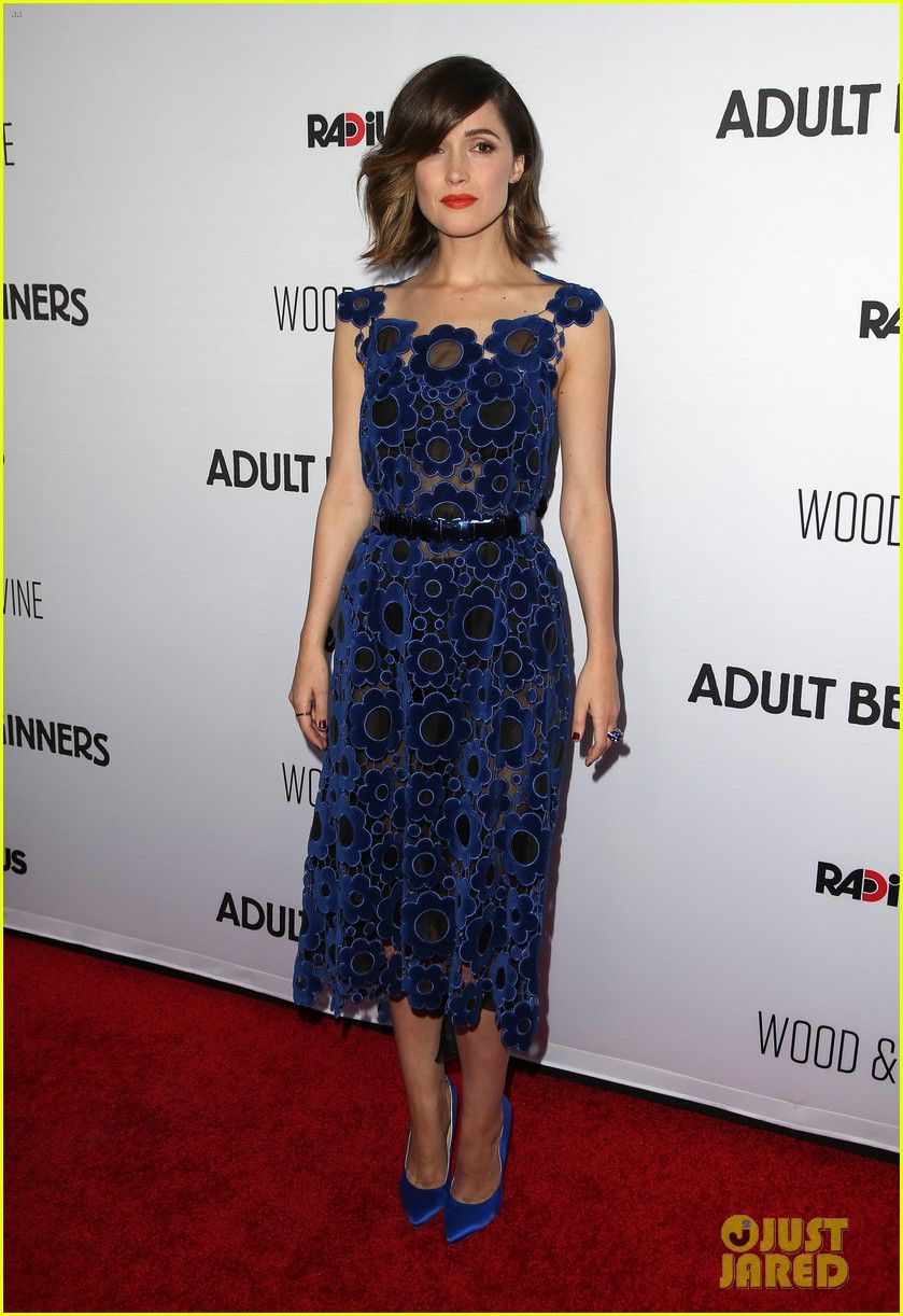Rose Byrne in a Christopher Kane dress Brian Atwood heels and