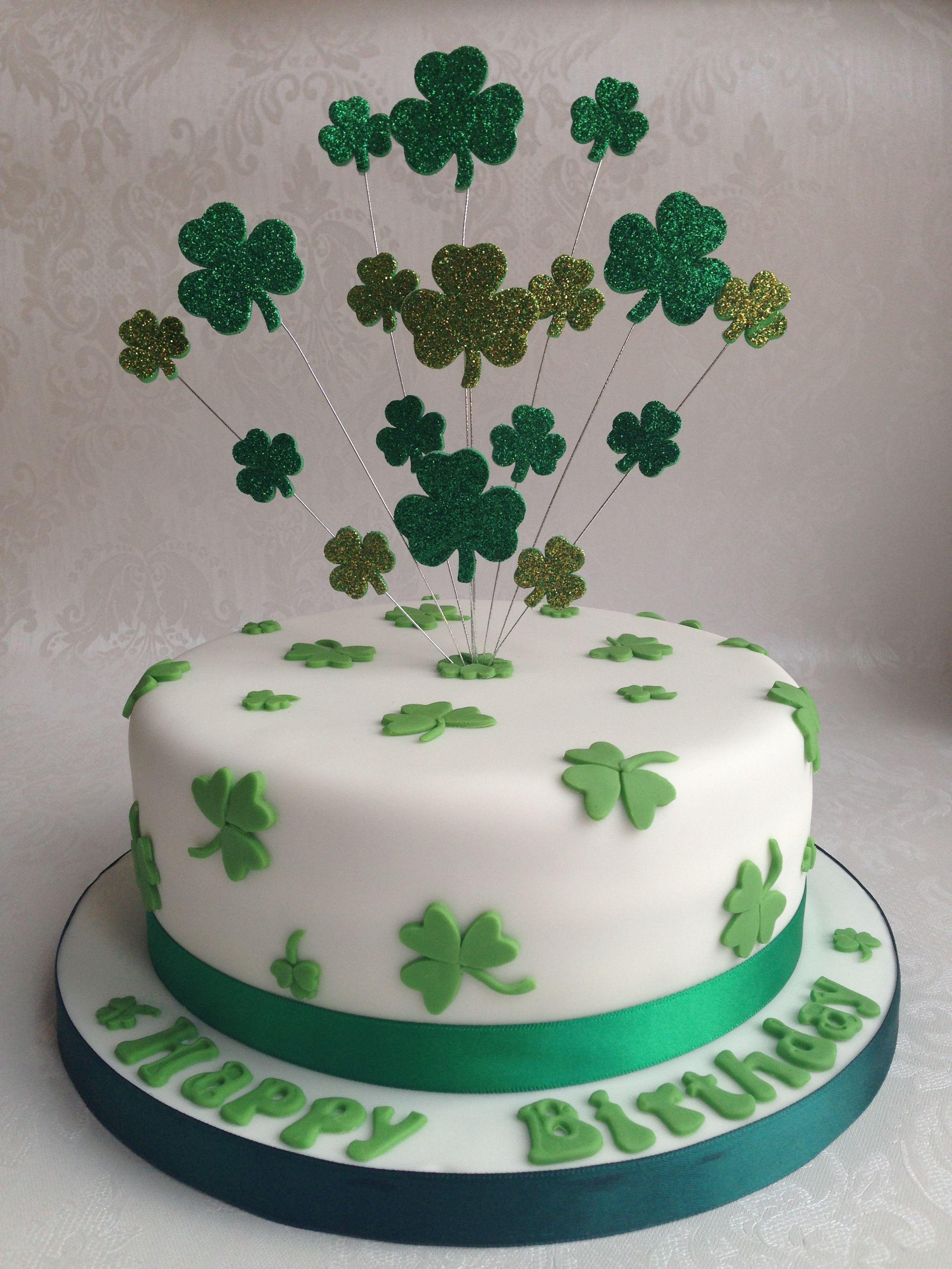 Phenomenal Irish Shamrock Cake With Images St Patricks Day Cakes Cake Birthday Cards Printable Trancafe Filternl
