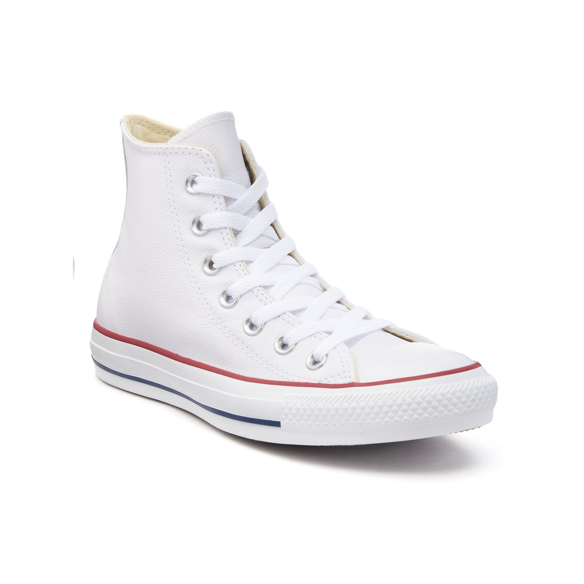 Adult Converse Chuck Taylor All Star Leather High-Top Sneakers #whiteallstars