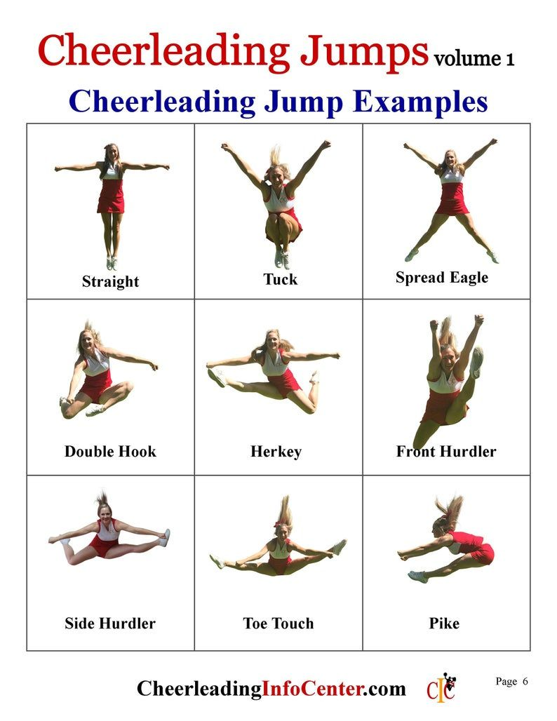 Cheerleading Jumps Ebook, Cheerleading Coach, Chee