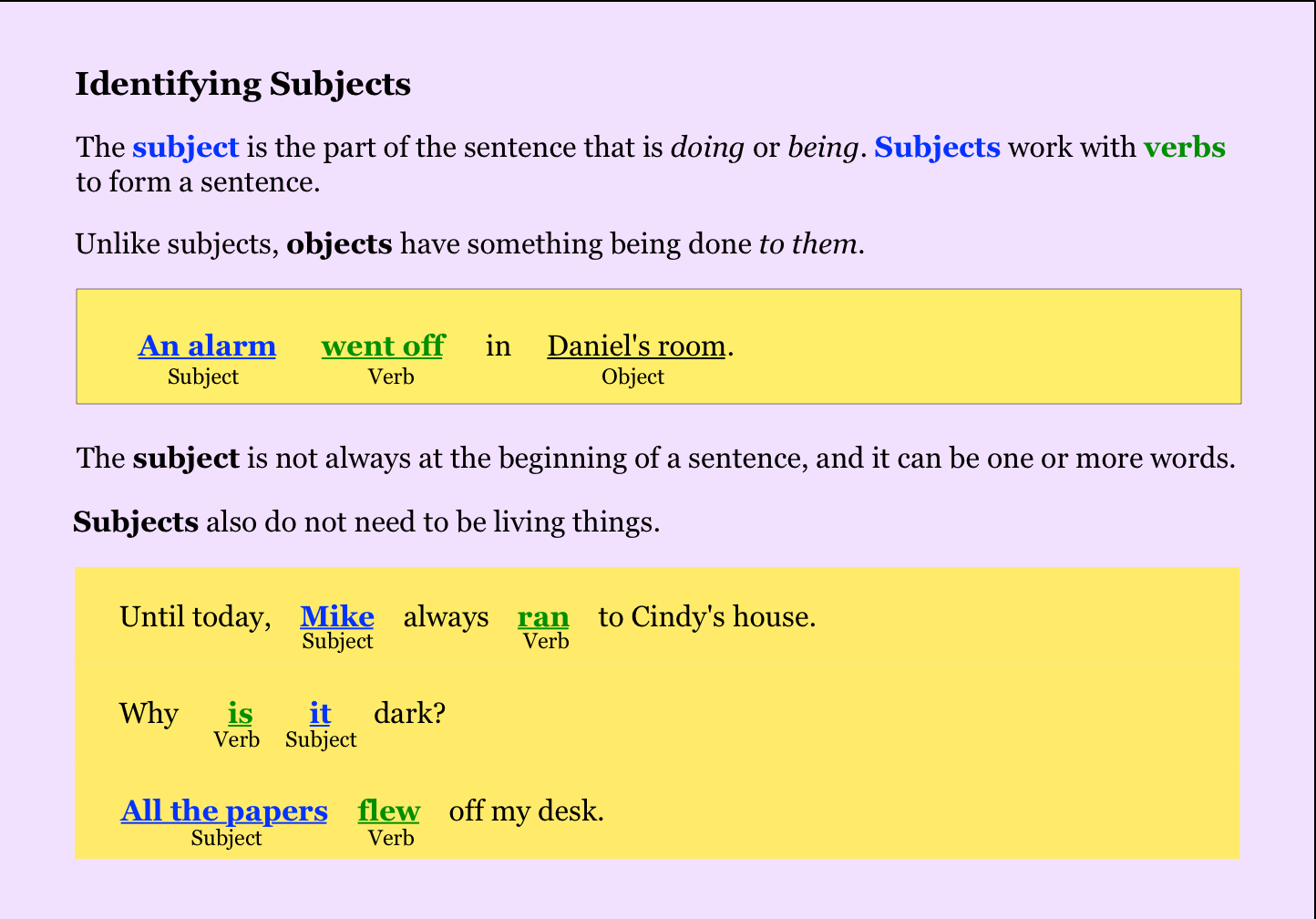 Noredink Subject And Verb Sentences Verb Forms [ 1008 x 1444 Pixel ]