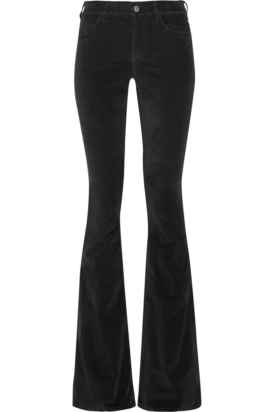 M.I.H JEANS Skinny Marrakesh Stretch-Velvet Mid-Rise Flared Jeans. #m.i.hjeans #cloth #jeans