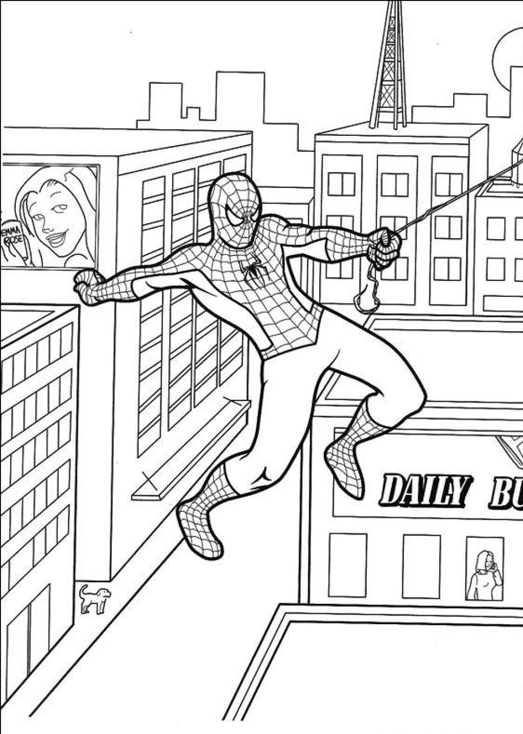 Free Printable Spiderman Coloring Pages For Kids | Coloring pages ...