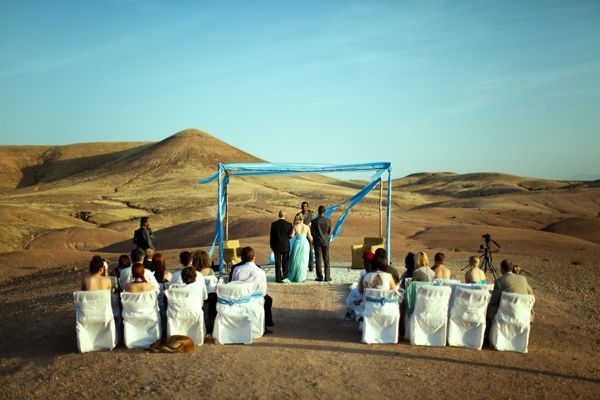A wedding in the Moroccan Desert. Photo by Eden Exposed Media