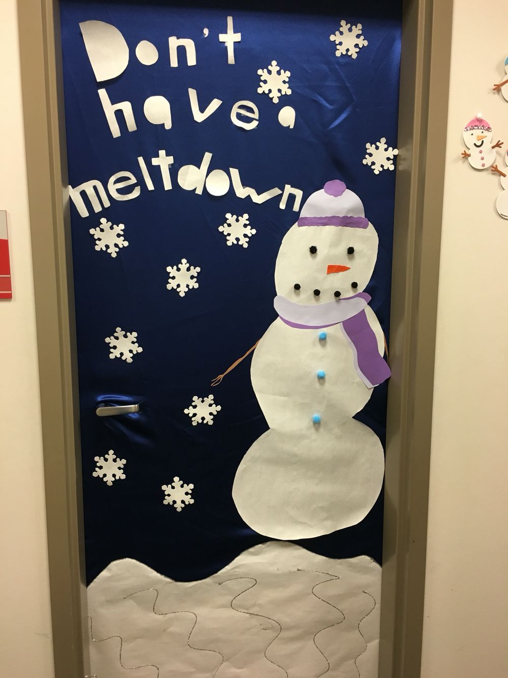 School Social Worker Door For Christmas Or Winter Add Coping Skills To Snowflakes Holiday Classroom Door Decorations Holiday Classroom Doors Coping Skills