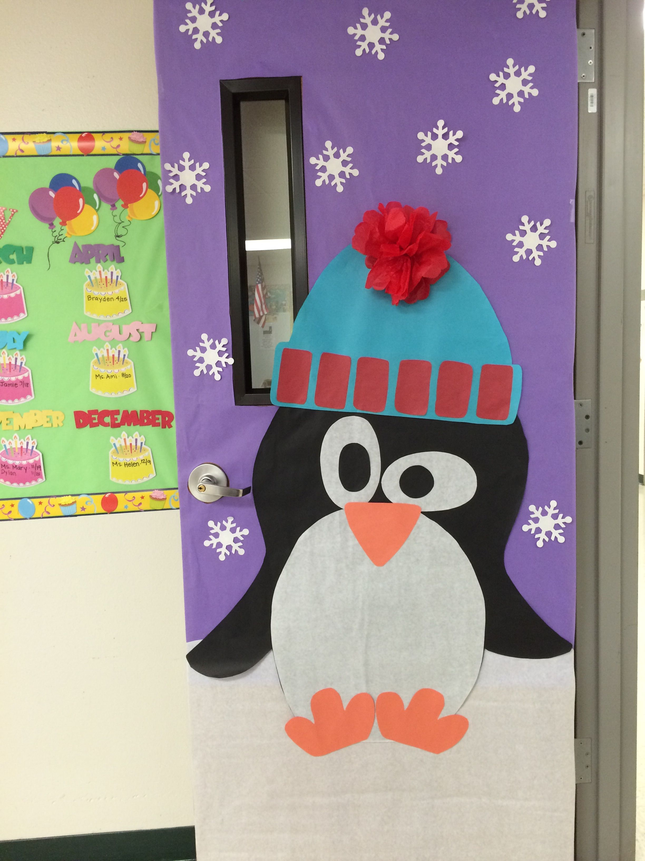 Winter Classroom Door decoration winter penguins classroomdoor