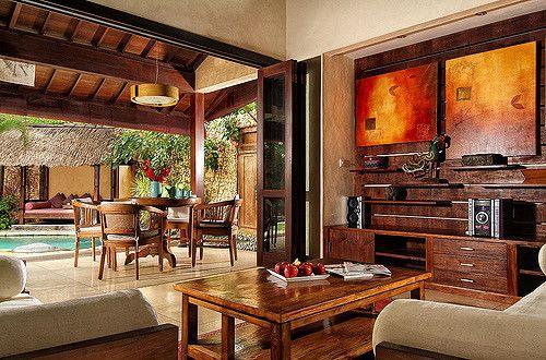 Villa Kubu Bali Living Room Traditional Dining Rooms Design Dining Room Design Top tropical dining rooms vibrant
