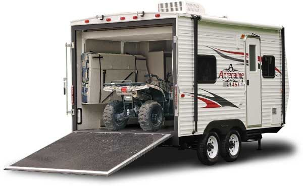Mini toy haulers manufacturers toy hauler pinterest for 16 ft toy hauler floor plans