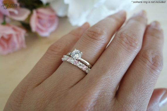 12 Stone Wedding Band Only 3 4 Carat Fancy Pink By Tigergemstones