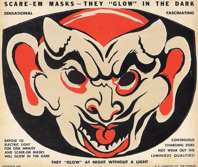 Monster Brains Vintage Paper Halloween Masks Vintage Halloween Halloween Paper Vintage Paper