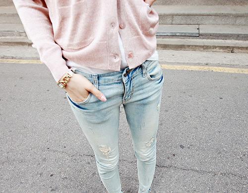 Pearl blush cardigan #pastel