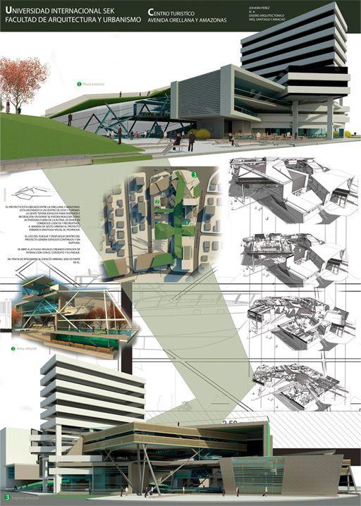 Diagramaci n laminas de presentaci n pinterest panel for Laminas arquitectura