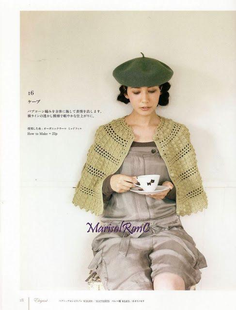 Tutorial patrón chal semicírculo. Patrones de Crochet   Crochet moda ...