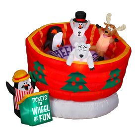 Holiday Living 5.24-ft Lighted Wheel Of Fun Christmas Inflatable ...