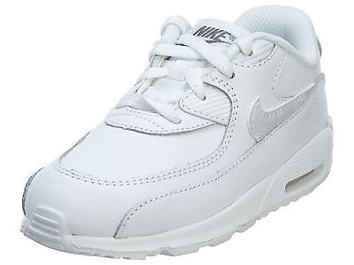 the best attitude ef84d 478c6 Nike Air Max 90 Leather Td Toddler 724823-100 White Shoes Sneakers Baby  Size 10