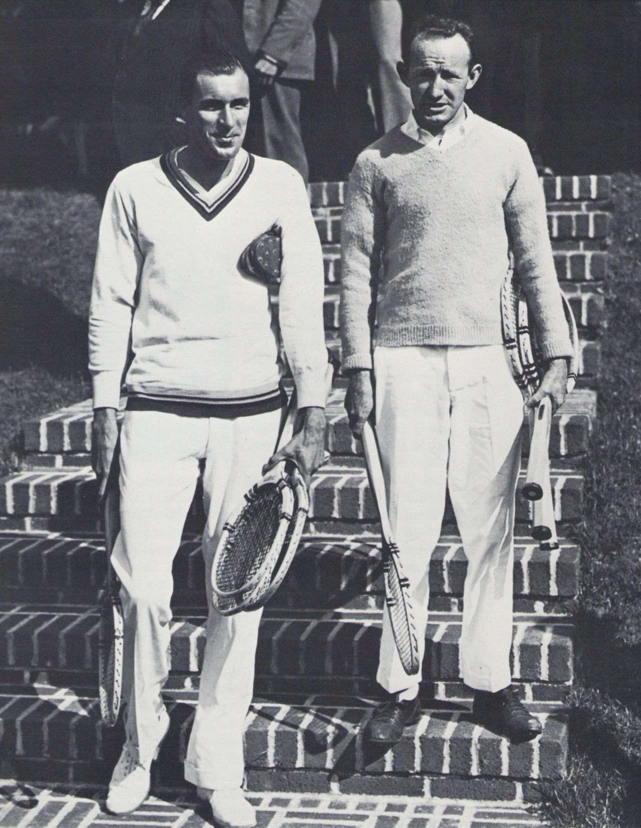 Bill Tilden and Bill Johnston at Forest Hills in 1925