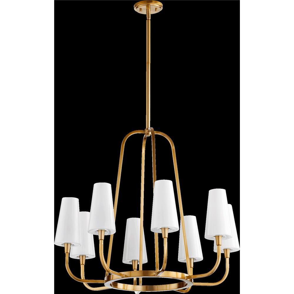 632-8-80 - Quorum International 632-8-80 Highline Chandelier in Aged Brass  - GoingLighting