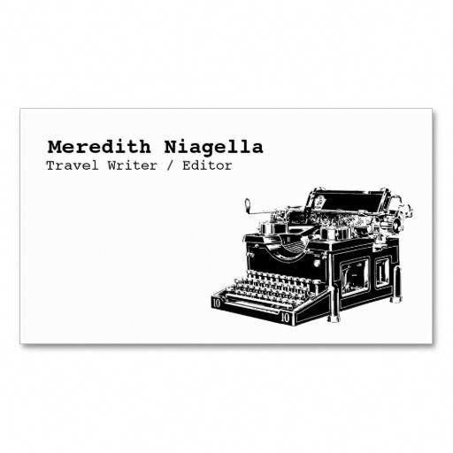 Writer / Editor / Authors Business Card Template #