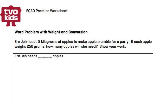 Eqao Grade 6 Printable Practice Converting Weight Measurements Math Tvokids Eqao Math Worksheets Grade 6 Math Grade 6 Math Worksheets