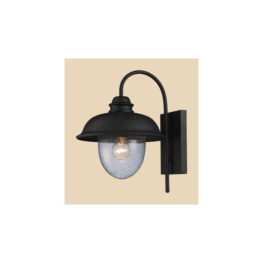 Westmore lighting brier in h matte black outdoor wall light for