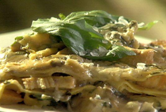 Chicken Mushroom And Spinach Alfredo Lasagna Recipe Recipes